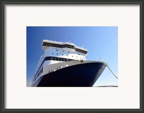 Ferry Boat. Framed Print By Fernando Barozza