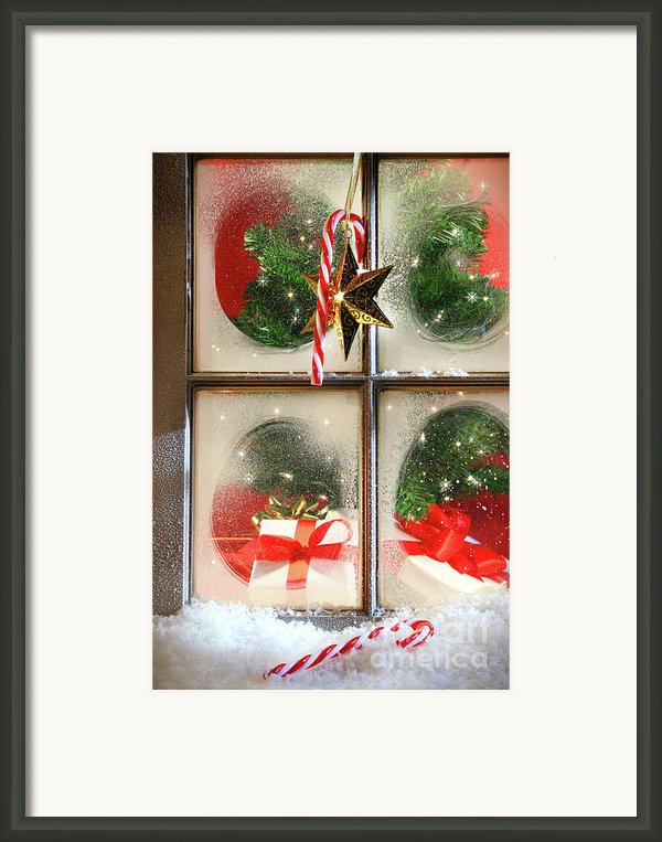 Festive Holiday Window Framed Print By Sandra Cunningham
