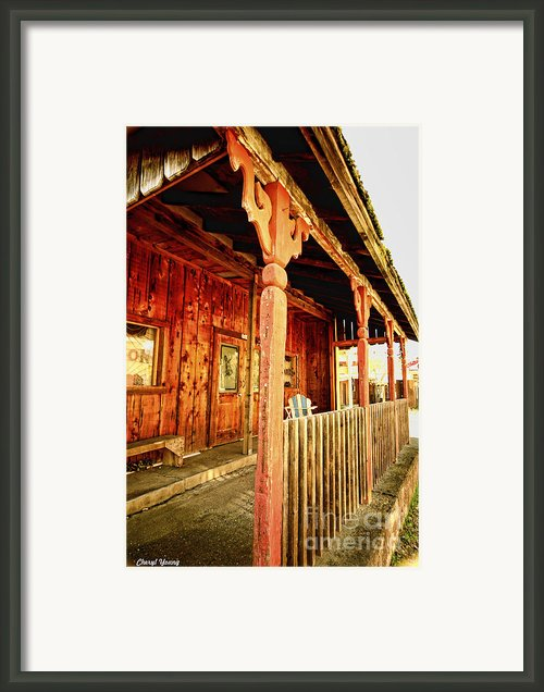 Fiddletown Saloon Framed Print By Cheryl Young