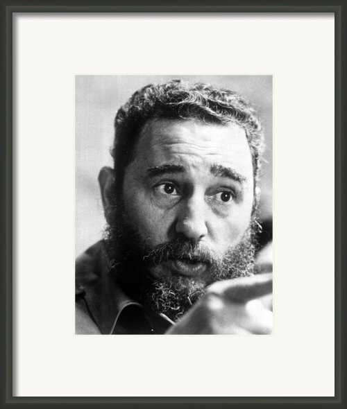 Fidel Castro, Circa 1977 Framed Print By Everett