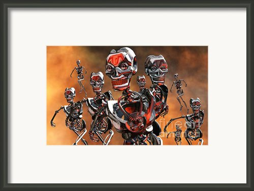 Fierce Androids Riot The City Of Tokyo Framed Print By Mark Stevenson
