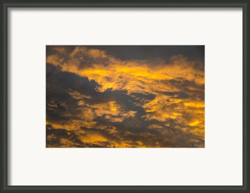 Fiery Clouds Framed Print By Lyubomir Kanelov