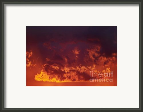Fiery Clouds Framed Print By Michal Boubin