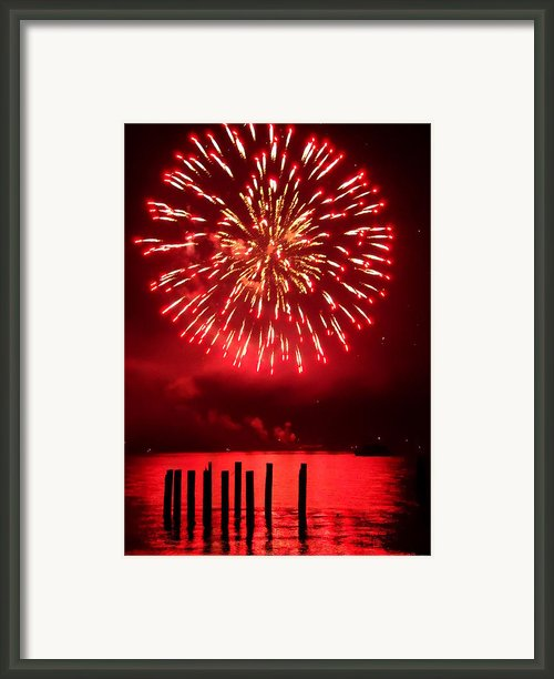 Fiery Fourth Framed Print By Peter Mooyman