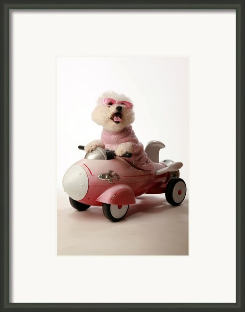 Fifi Is Ready For Take Off In Her Rocket Car Framed Print By Michael Ledray
