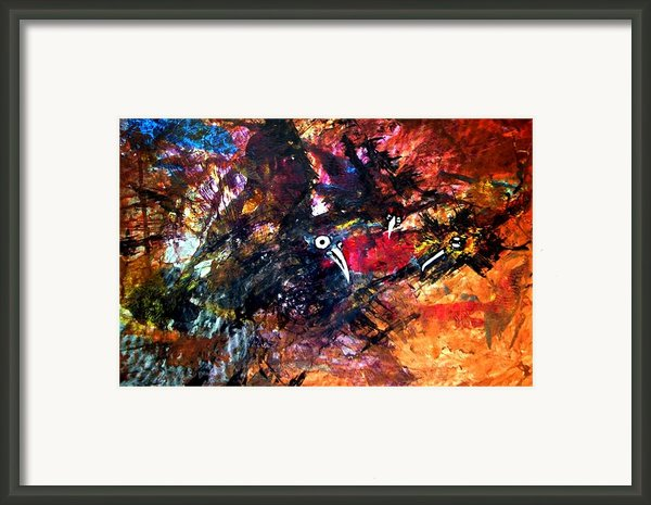 Fight In The Air Framed Print By Aquira Kusume