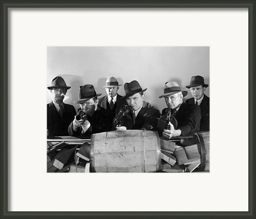 Film Still: Gangsters Framed Print By Granger