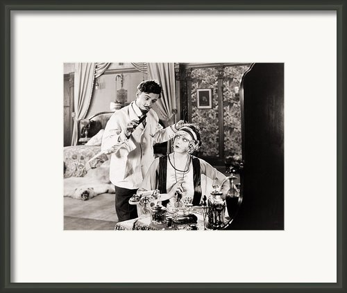 Film: The White Moth, 1924 Framed Print By Granger