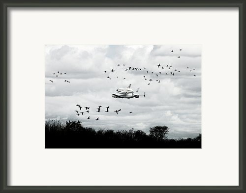 Final Flight Of The Enterprise Framed Print By Tolga Cetin