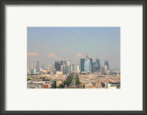 Financial Buidings In Paris Framed Print By All Right Rs