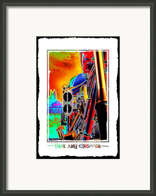 Fine Art Chopper I Framed Print By Mike Mcglothlen