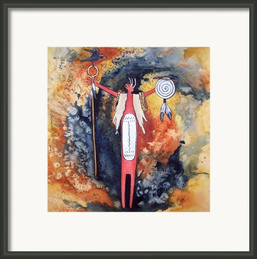 Fire And Brimstone Framed Print By Karen Casciani