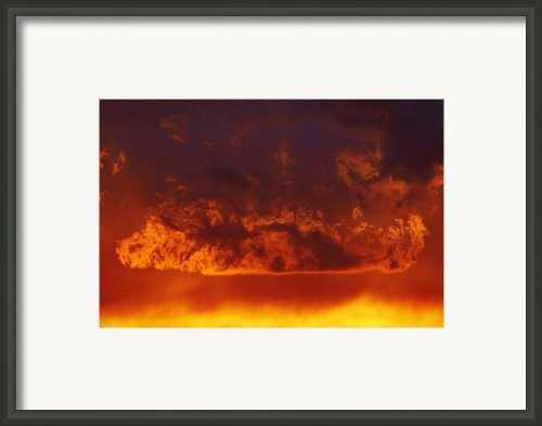 Fire Clouds Framed Print By Michal Boubin