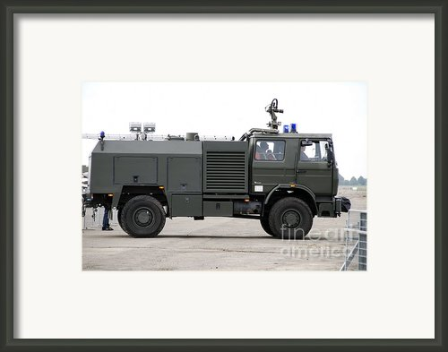 Fire Engine Of The Belgian Army Located Framed Print By Luc De Jaeger