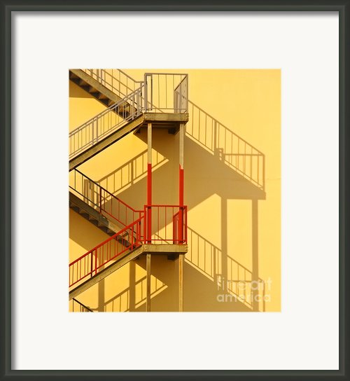 Fire Escape And Shadow Framed Print By David Buffington