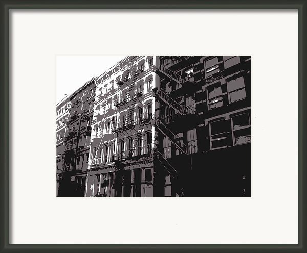 Fire Escapes Bw3 Framed Print By Scott Kelley