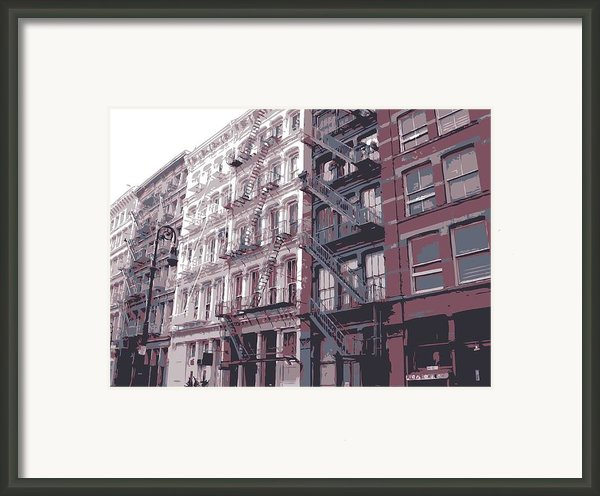 Fire Escapes Color 6 Framed Print By Scott Kelley
