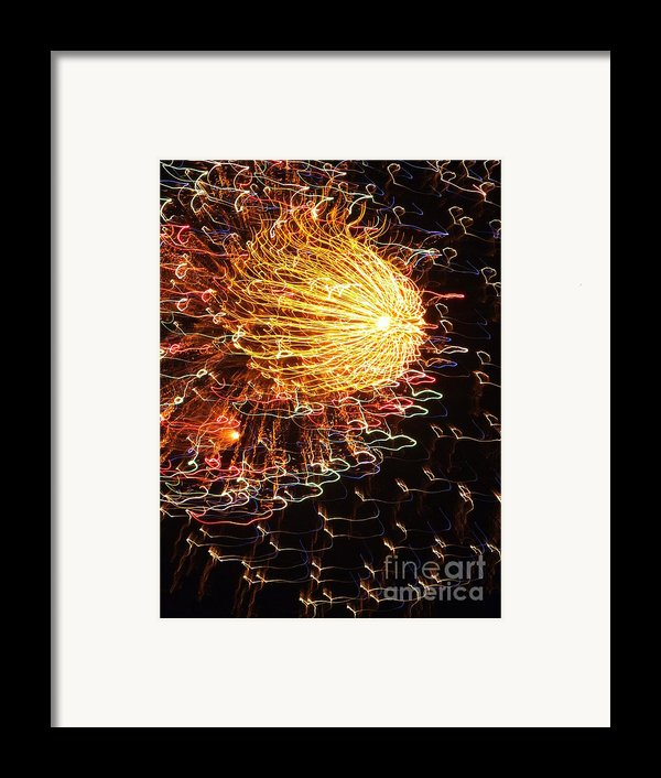 Fire Flower Framed Print By Karen Wiles