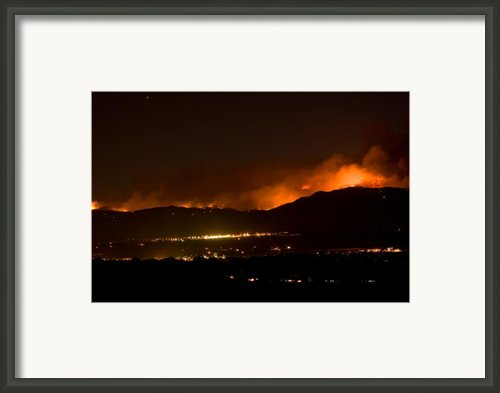 Fire In The Mountains No Lightning In The Air  Framed Print By James Bo Insogna