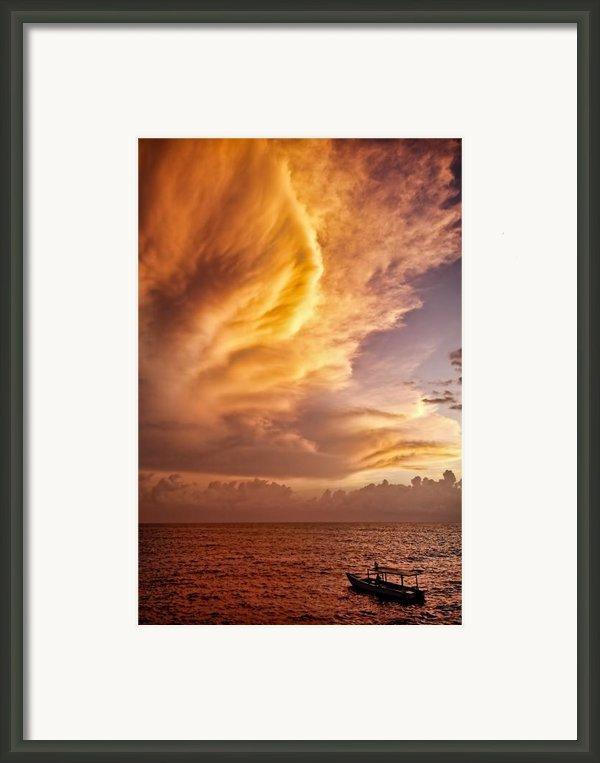 Fire In The Sky Framed Print By David Bowman