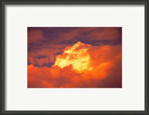 Fire In The Sky Framed Print By John Foote
