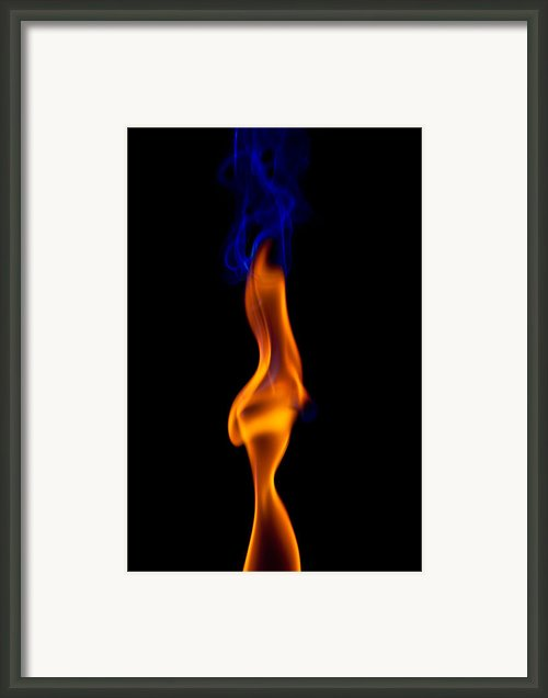 Fire Lady Framed Print By Gert Lavsen