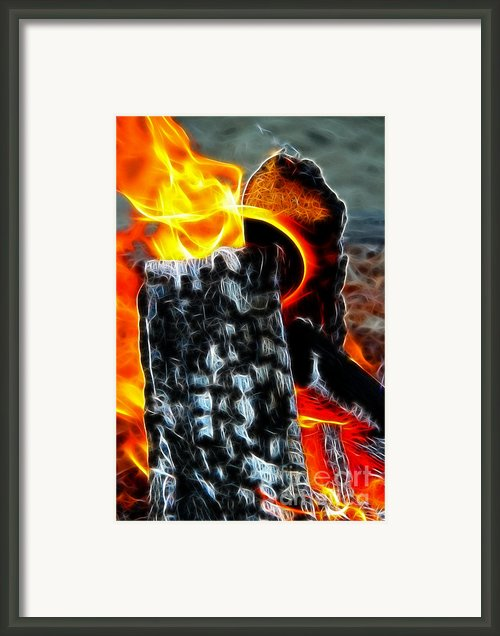 Fire Magic Framed Print By Mariola Bitner