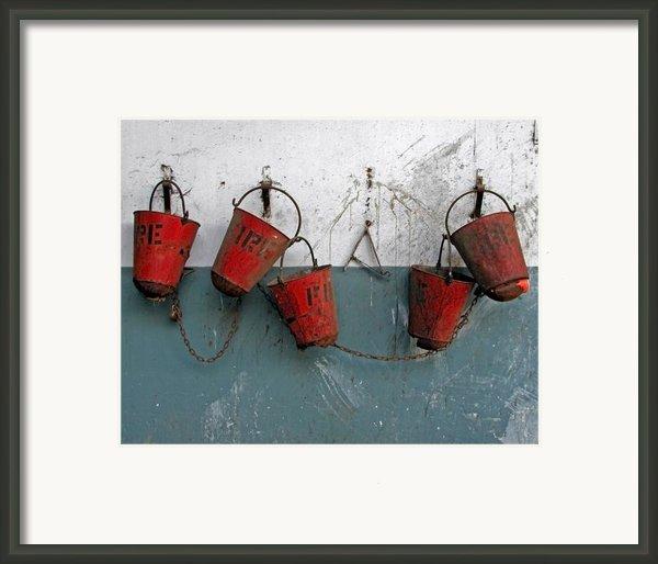 Fire Pails Framed Print By Skip Hunt