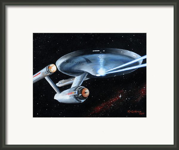 Fire Phasers Framed Print By Kim Lockman
