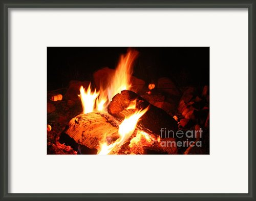 Fire With Marshmallows Framed Print By Kristy Jeppson