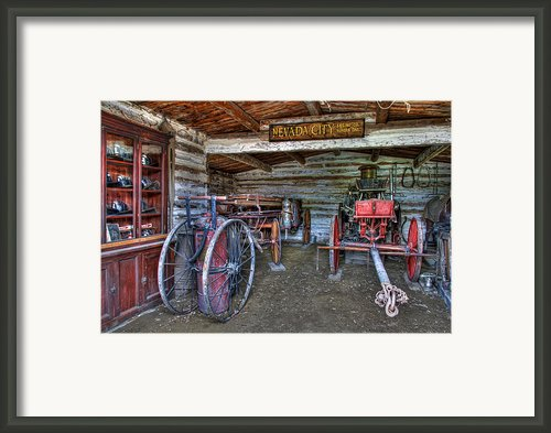 Firefighting Engine Company No. 1 - Nevada City Montana Ghost Town Framed Print By Daniel Hagerman