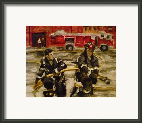 Firemen Framed Print By Kelly S