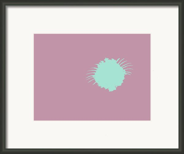 Firework Abstract L Framed Print By Michelle Calkins