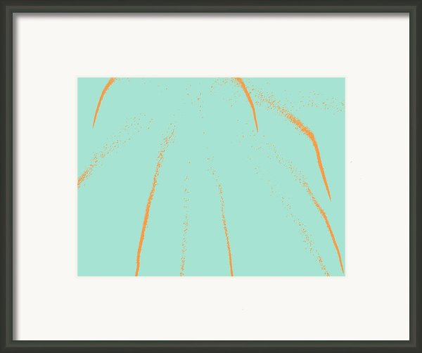 Firework Abstract Lll Framed Print By Michelle Calkins