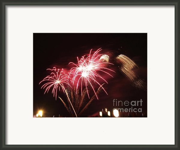 Firework Display Framed Print By Bernard Jaubert
