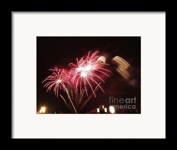 Firework Display Framed Print By Bernard Jaubert
