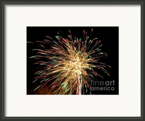 Firework Framed Print By Meandering Photography