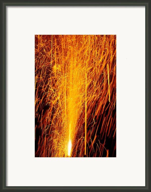 Fireworks Fountain Framed Print By Garry Gay