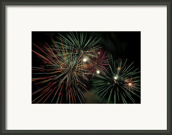 Fireworks Framed Print By Glenn Gordon