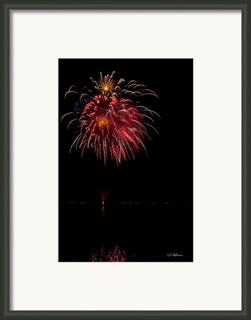 Fireworks Ii Framed Print By Christopher Holmes