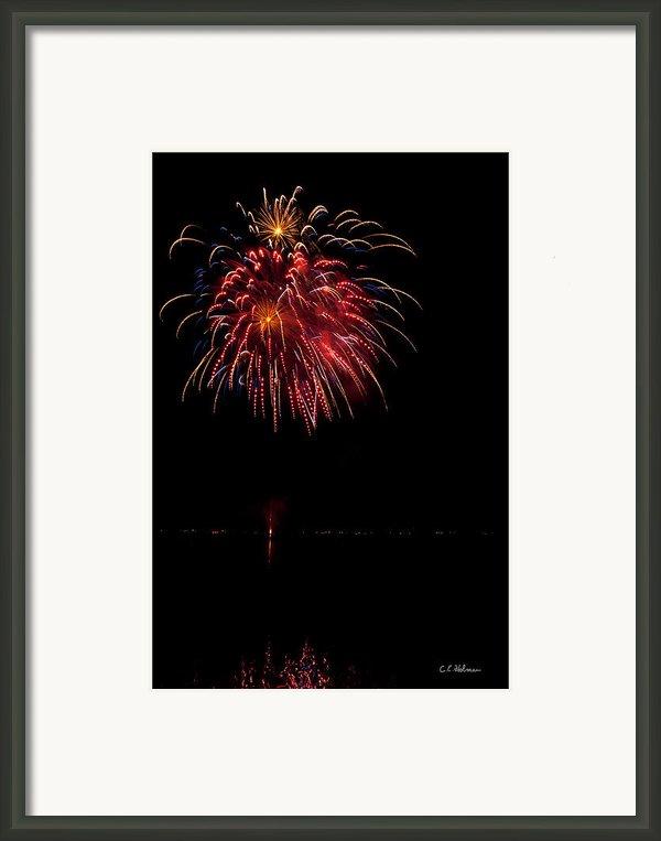 Fireworks Ii Framed Print By Christopher Holmes