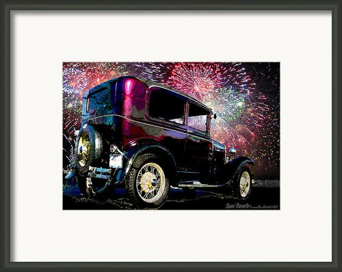 Fireworks In The Ford Framed Print By Suni Roveto