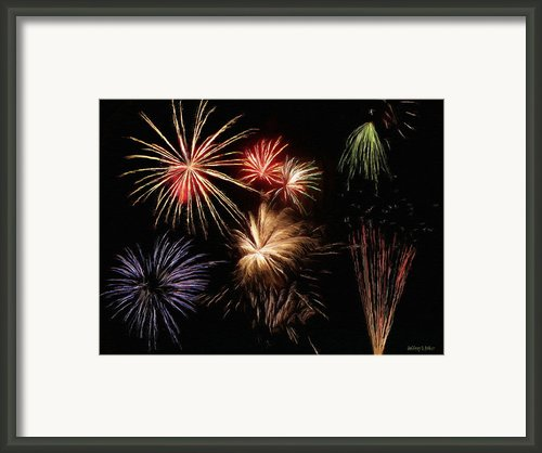 Fireworks Framed Print By Jeff Kolker