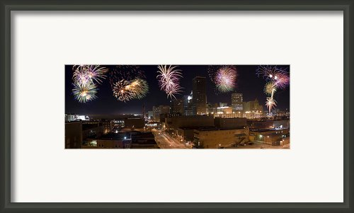 Fireworks Over The City Framed Print By Ricky Barnard