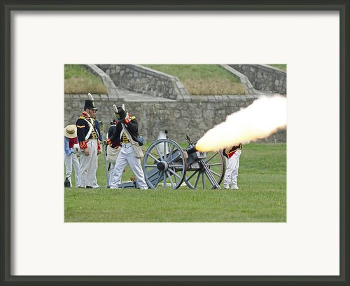 Firing Cannon Framed Print By Jt Lewis