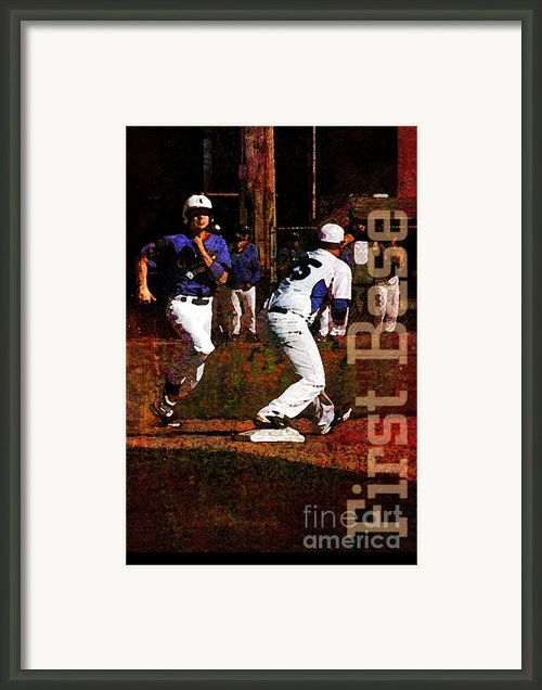 First Base Framed Print By John Turek