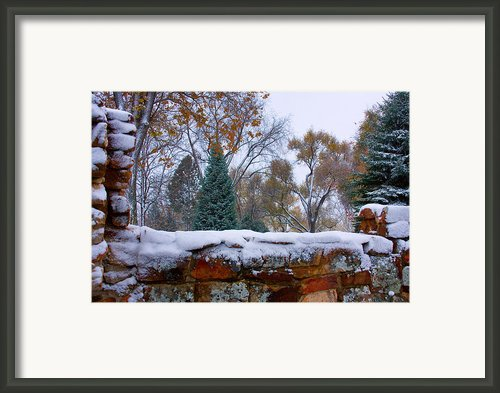 First Colorful Autumn Snow Framed Print By James Bo Insogna