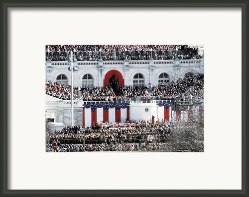 First Inauguration Of Bill Clinton Framed Print By Everett