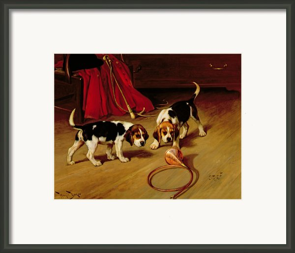 First Introduction Framed Print By Wright Barker