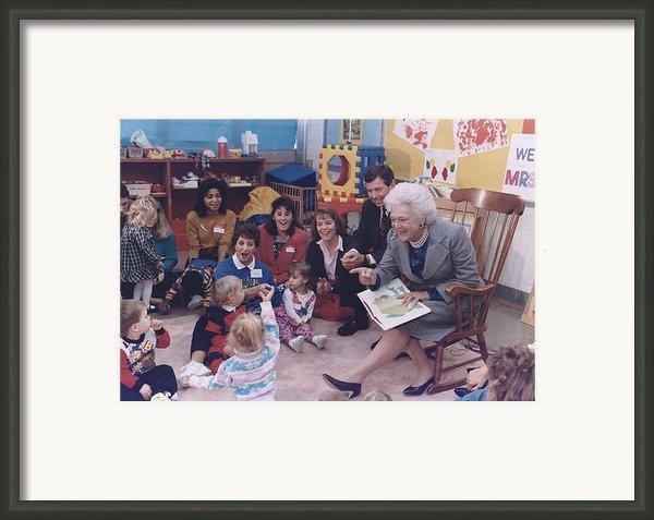 First Lady Barbara Bush And Missouri Framed Print By Everett
